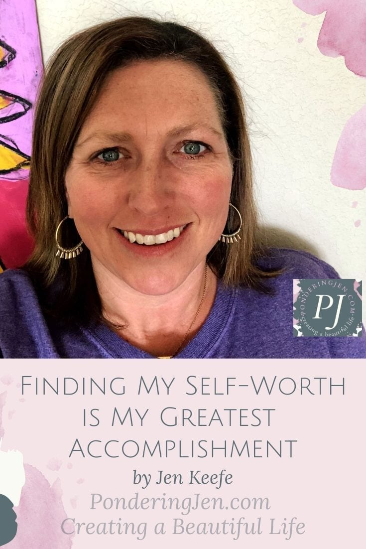 image of author smiling with text finding my self worth is my greatest accomplishment