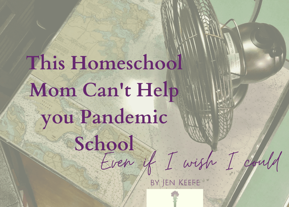 This Homeschool Mom Can't Help you Pandemic School, Even if I Wish I Could