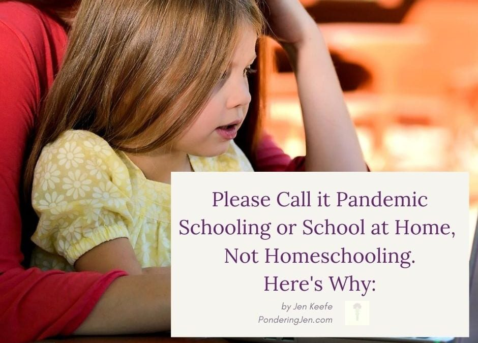 Please Call it Pandemic Schooling, School at Home, or Remote Learning, Not Homeschooling, Here's Why: