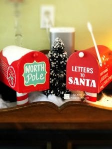 photo of Christmas themed mailboxes
