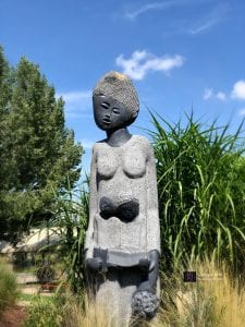 statue at botanic garden