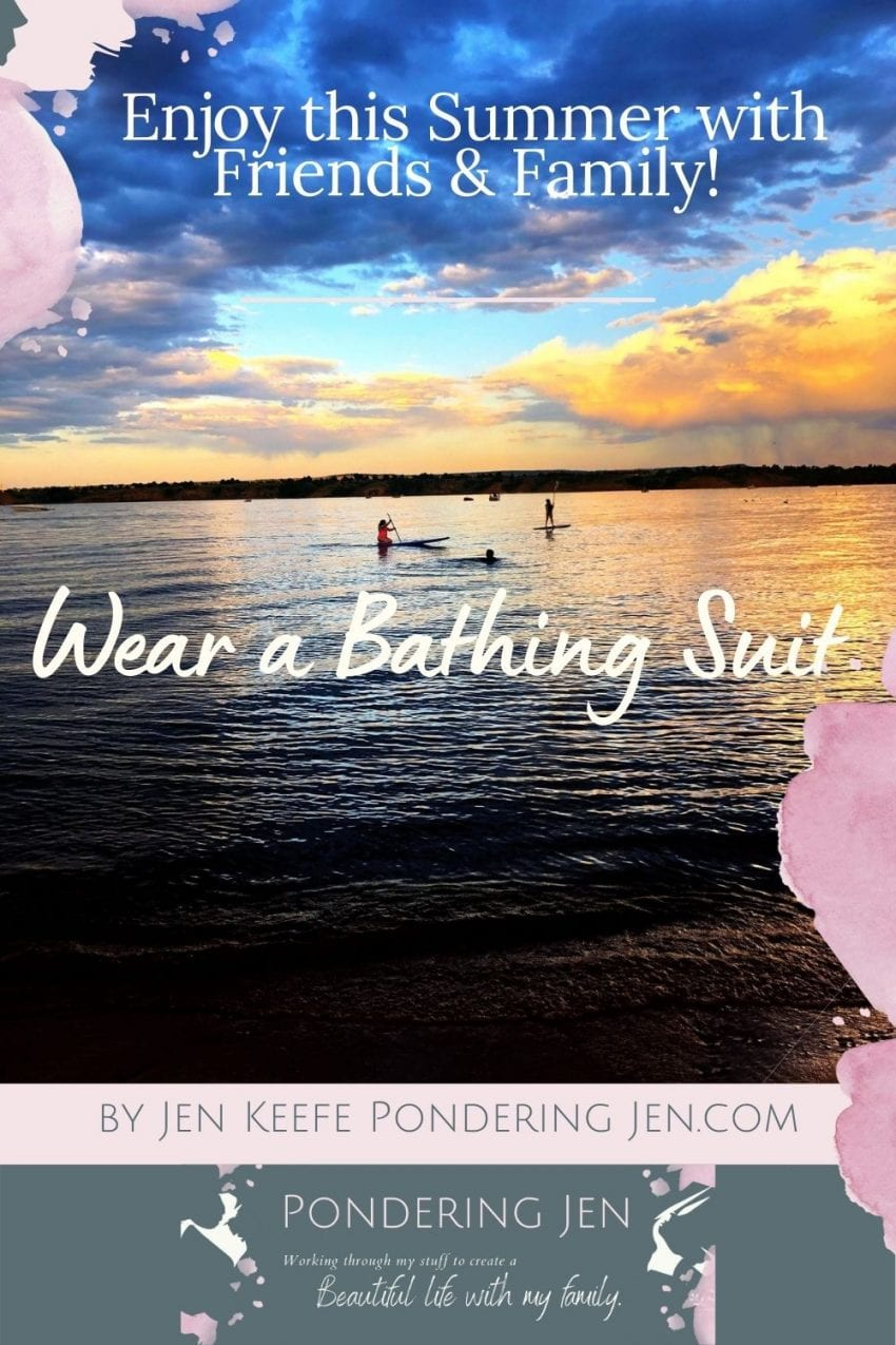 image of people paddling wear a bathing suit