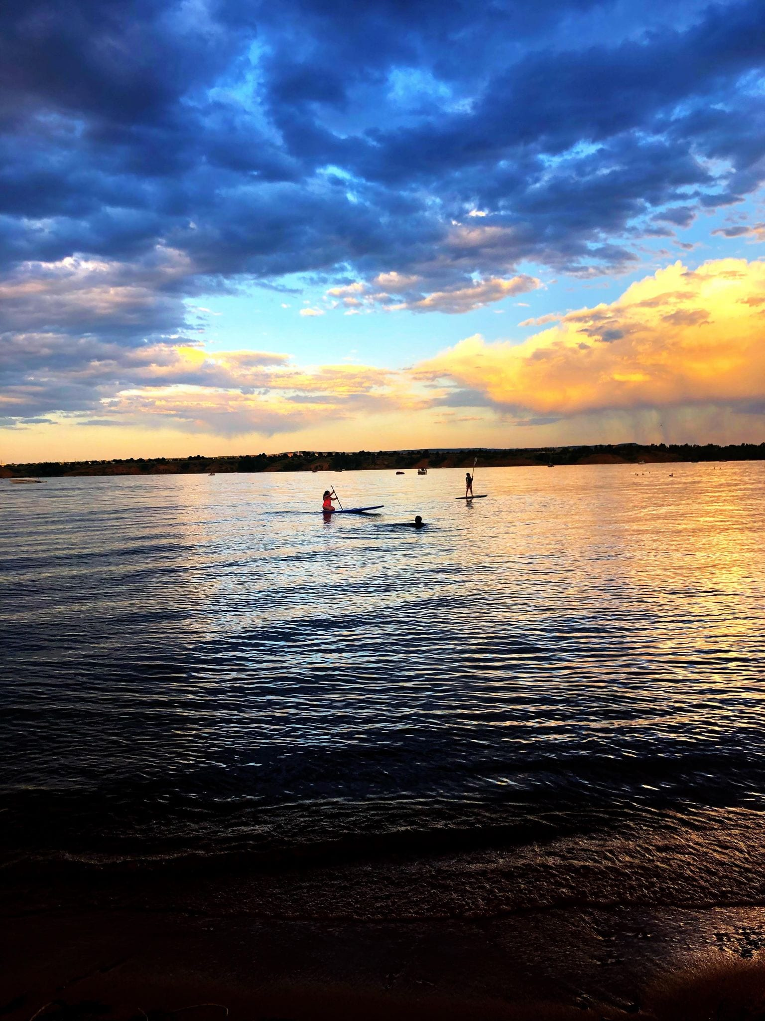 image of people paddle boarding